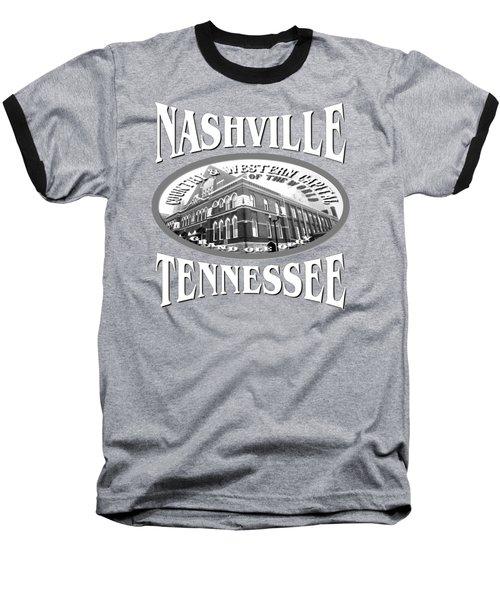 Nashville Tennessee Tshirt Design Baseball T-Shirt by Art America Gallery Peter Potter