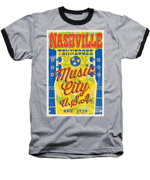 Nashville Tennessee Poster Baseball T-Shirt