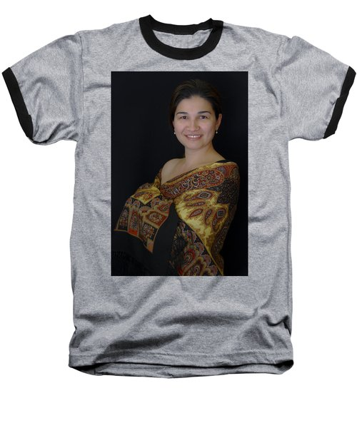 Nasiba. Girl And Her Pearls Baseball T-Shirt