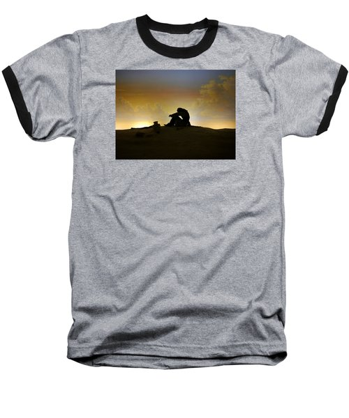 Nassau - Marooned Baseball T-Shirt by Richard Reeve