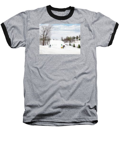 Nastar At Seven Springs Mountain Resort Baseball T-Shirt by Albert Puskaric