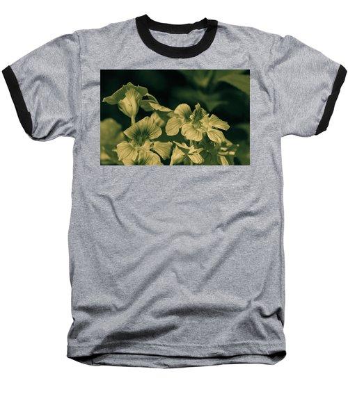 Nasturtium Black And White Baseball T-Shirt