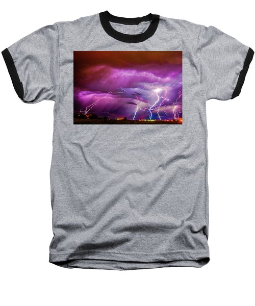 Nasty But Awesome Late Night Lightning 008 Baseball T-Shirt