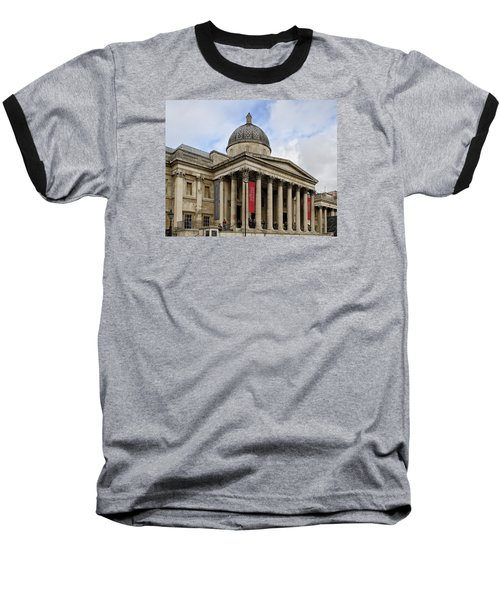 Baseball T-Shirt featuring the photograph National Gallery London by Shirley Mitchell