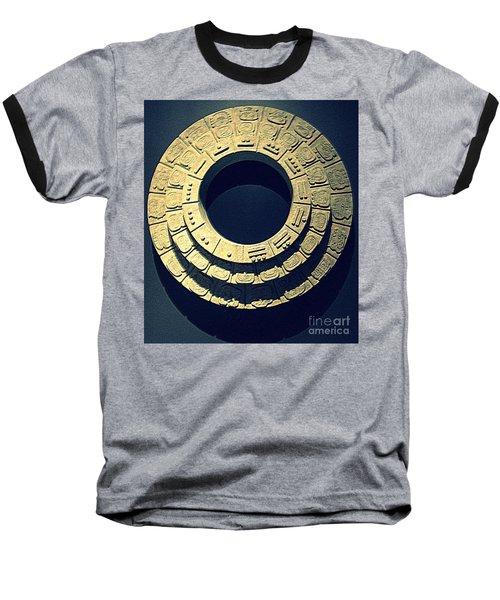 National Museum Of The American Indian 10 Baseball T-Shirt by Randall Weidner