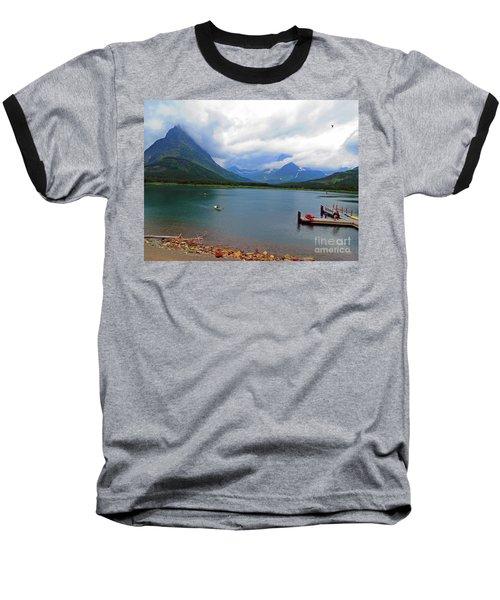 National Parks. Serenity Of Mcdonald Baseball T-Shirt by Ausra Huntington nee Paulauskaite
