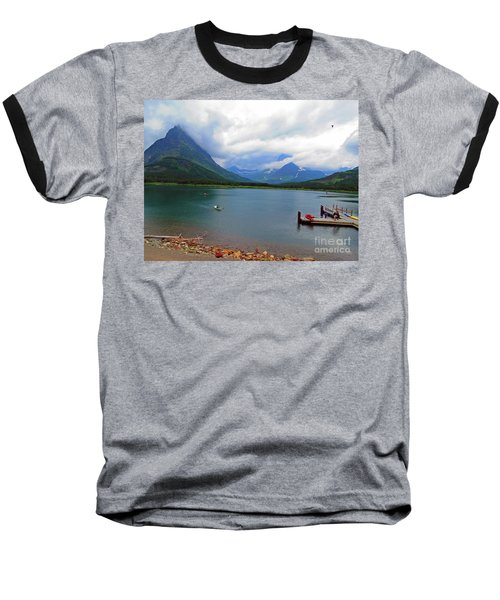 Baseball T-Shirt featuring the photograph National Parks. Serenity Of Mcdonald by Ausra Huntington nee Paulauskaite