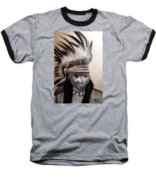 Arapaho Man With Gun. 1898. Wyoming Baseball T-Shirt by Ayasha Loya