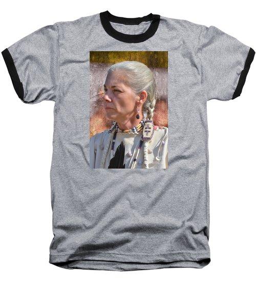 Native American Woman Baseball T-Shirt by Kathy Baccari