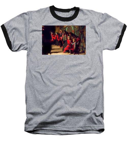 Native Dancers Baseball T-Shirt by Lewis Mann