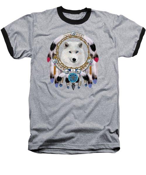 Native Indian Wolf Spirit Baseball T-Shirt