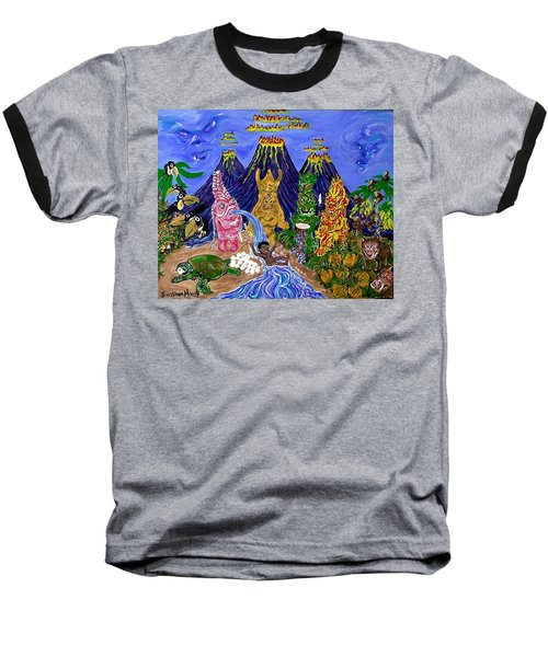 Nativi-tiki Baseball T-Shirt