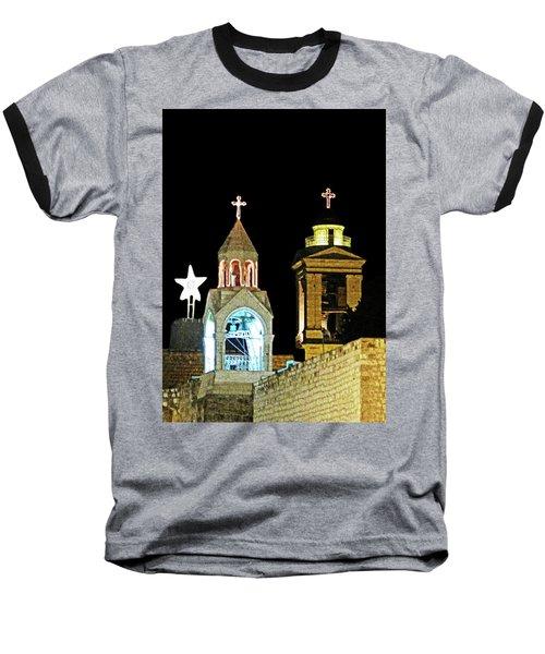 Baseball T-Shirt featuring the photograph Nativity Church Lights by Munir Alawi