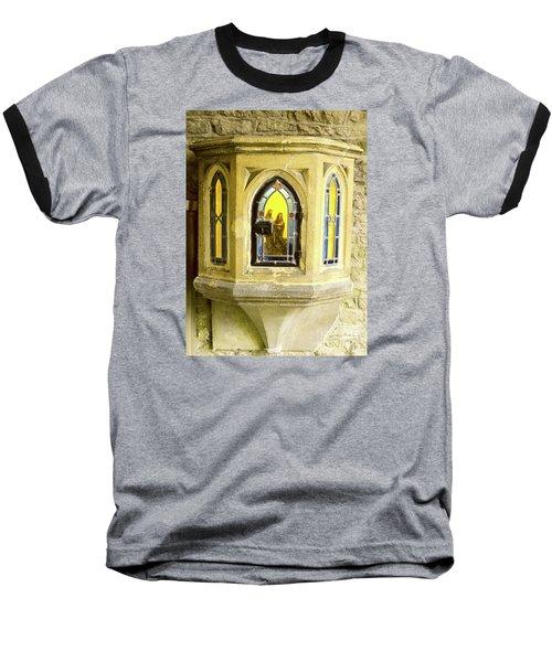 Nativity In Ancient Stone Wall Baseball T-Shirt