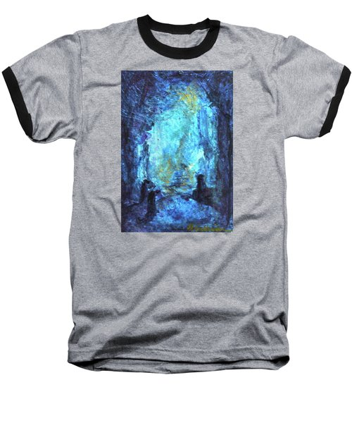 Baseball T-Shirt featuring the painting Nativity by Mary Sullivan