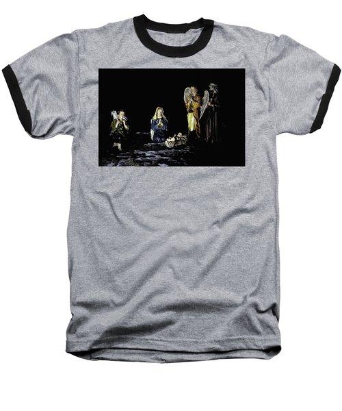 Nativity Scene Baseball T-Shirt
