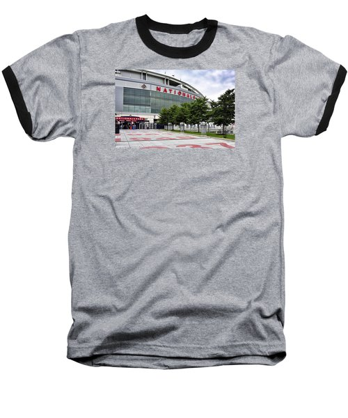 Nats Park - Front Entrance  Baseball T-Shirt by Brendan Reals