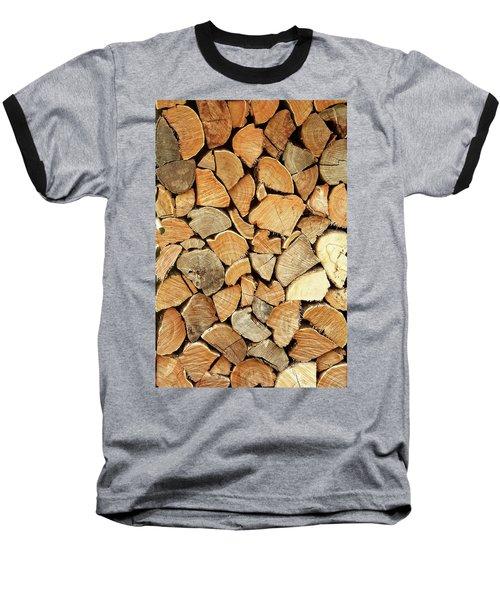 Natural Wood Baseball T-Shirt by AugenWerk Susann Serfezi