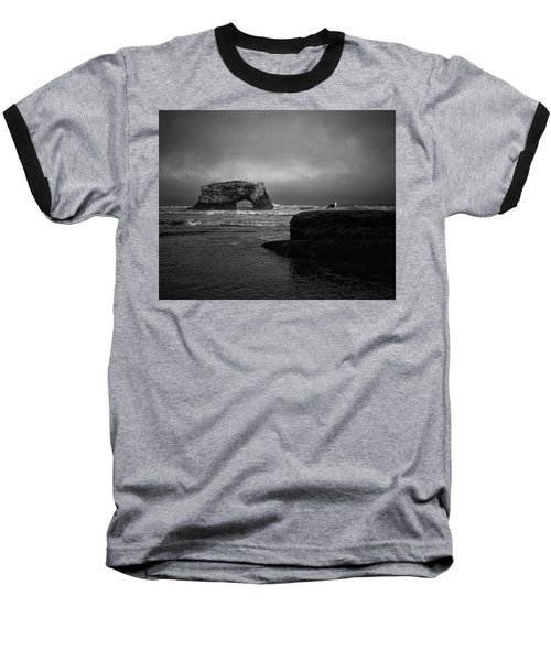 Baseball T-Shirt featuring the photograph Natural Bridge And The Gull by Lora Lee Chapman