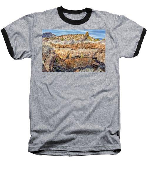 Natural Bridge At Lava Beds Baseball T-Shirt