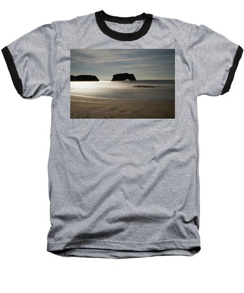 Natural Bridges State Beach Sand Baseball T-Shirt