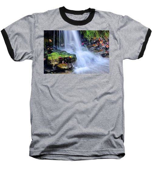 Baseball T-Shirt featuring the photograph Natural Flowing Water by Frozen in Time Fine Art Photography