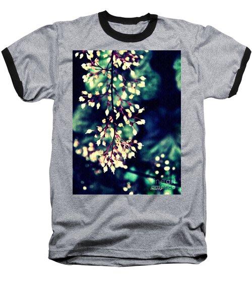Natural Lace 2 Baseball T-Shirt by Sarah Loft