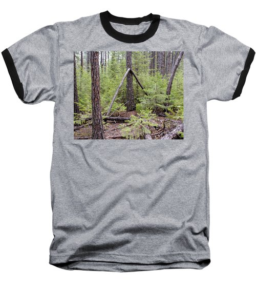 Natural Peace In The Woods Baseball T-Shirt