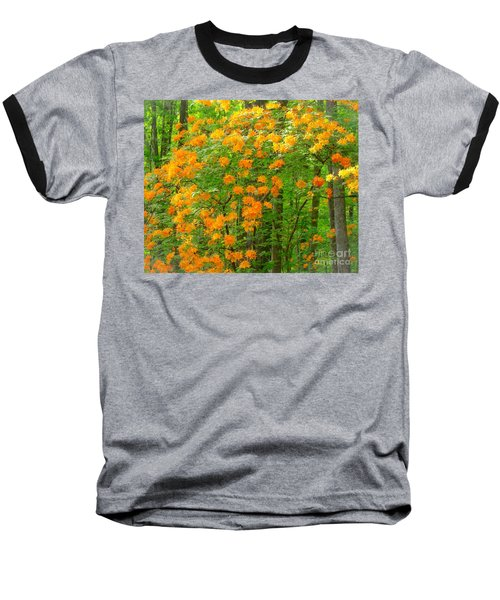 Natural Wild Azaleas  Baseball T-Shirt by Rand Herron