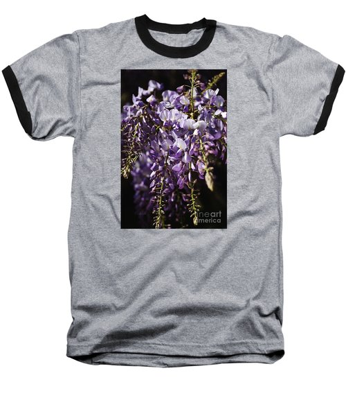 Natural Wisteria Bouquet Baseball T-Shirt