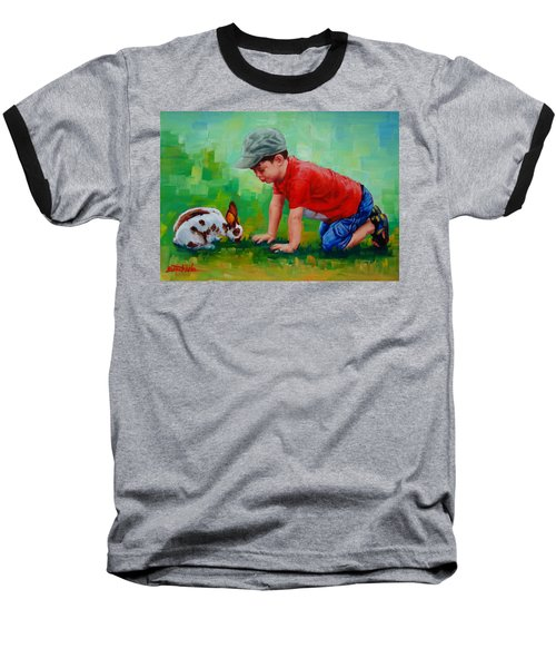 Baseball T-Shirt featuring the painting Natural Wonder by Margaret Stockdale