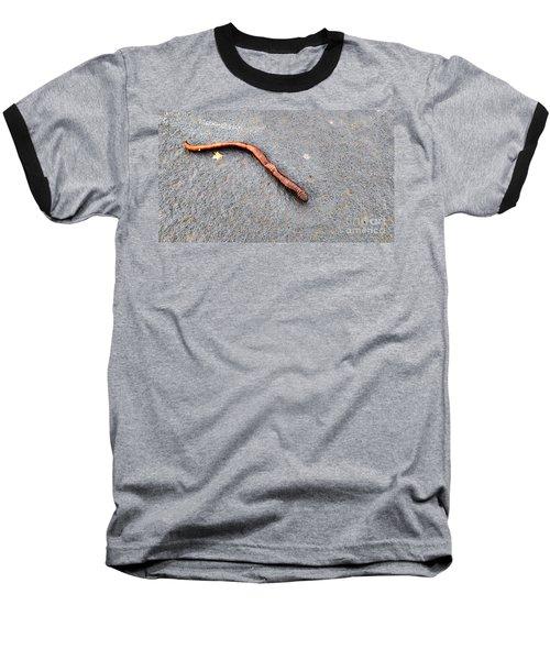 Baseball T-Shirt featuring the photograph Naturally Bronzed Earthworm by Robert Knight
