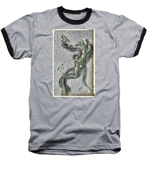 Baseball T-Shirt featuring the digital art Nature And Man by Darren Cannell