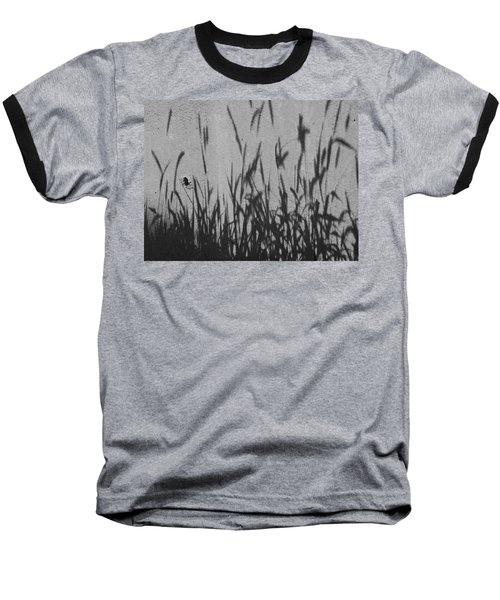 Nature As Shadow Baseball T-Shirt by Lenore Senior