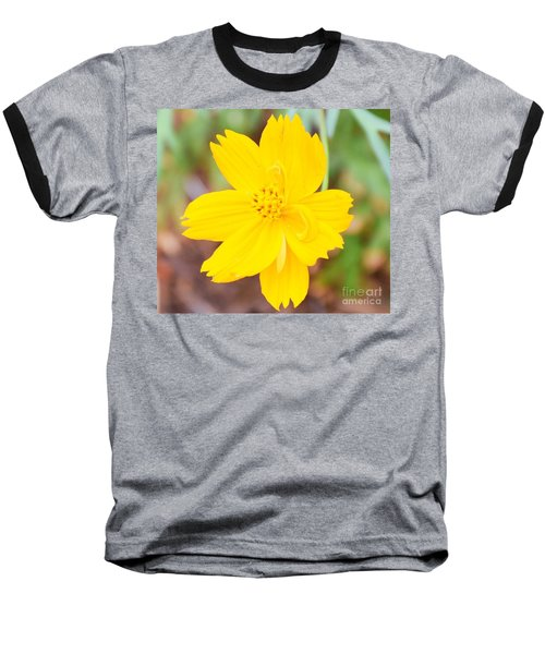 Baseball T-Shirt featuring the photograph Nature Colorful Flower Gifts - Yellow by Ray Shrewsberry