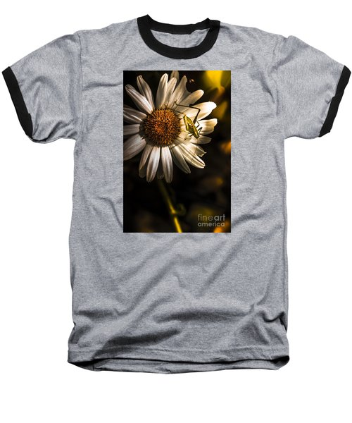 Nature Fine Art Summer Flower With Insect Baseball T-Shirt