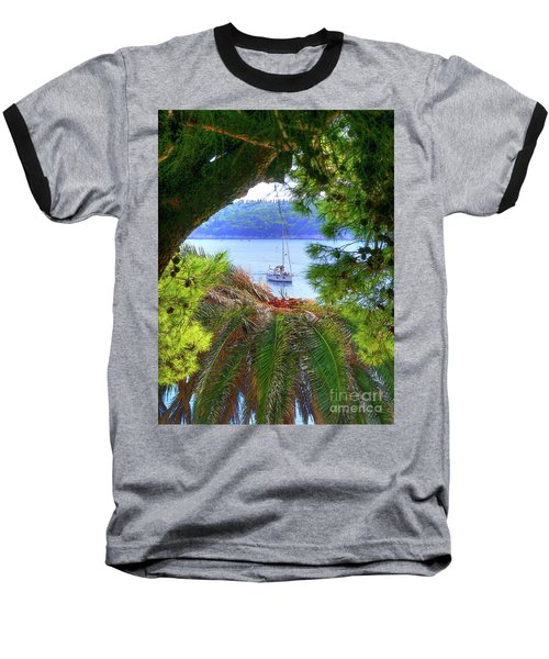 Nature Framed Boat Baseball T-Shirt
