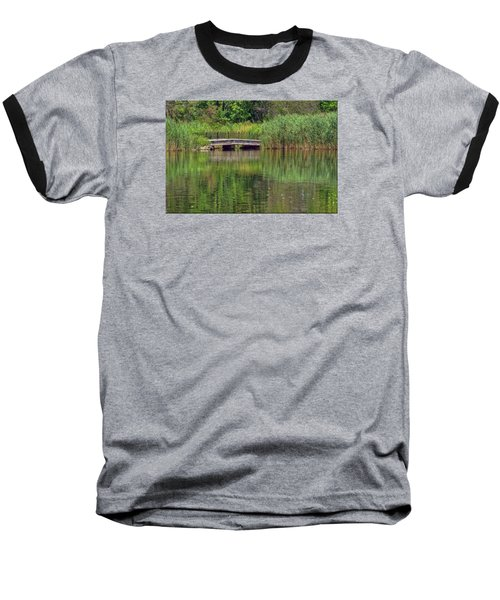 Nature In Green Baseball T-Shirt by Mikki Cucuzzo