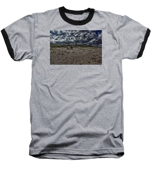 Baseball T-Shirt featuring the photograph Nature Playing To An Empty Beach by Constantine Gregory