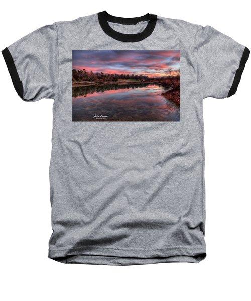 Nature Reserve Reflections Baseball T-Shirt by John Loreaux