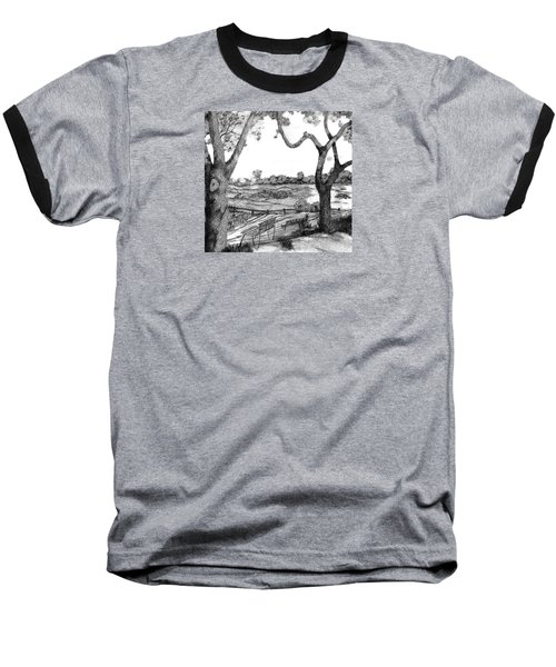 Baseball T-Shirt featuring the drawing Nature Sketch by John Stuart Webbstock