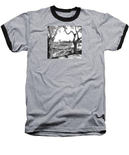Nature Sketch Baseball T-Shirt by John Stuart Webbstock