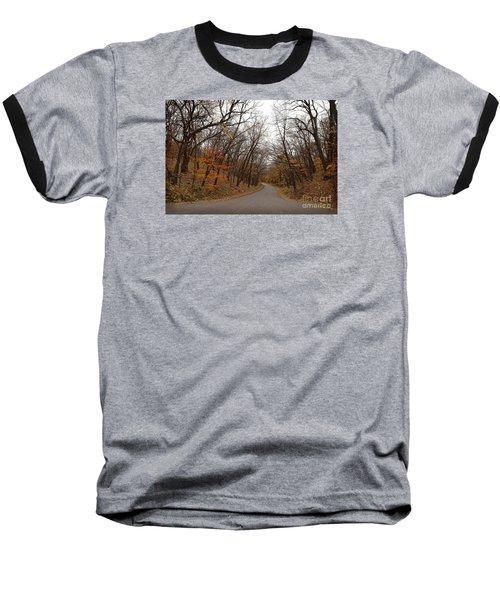 Nature Trail 3 Baseball T-Shirt by Yumi Johnson