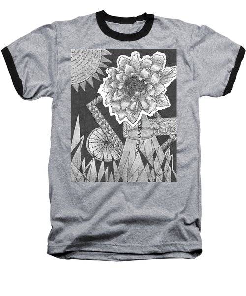 Naturemade And Manmade Shapes Baseball T-Shirt by Quwatha Valentine