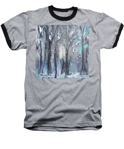 Baseball T-Shirt featuring the painting Nature's Cathedral by Robin Maria Pedrero