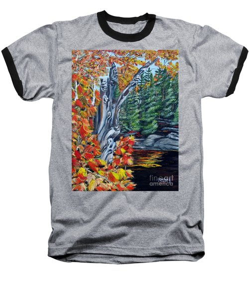 Baseball T-Shirt featuring the painting Natures Faces by Marilyn  McNish
