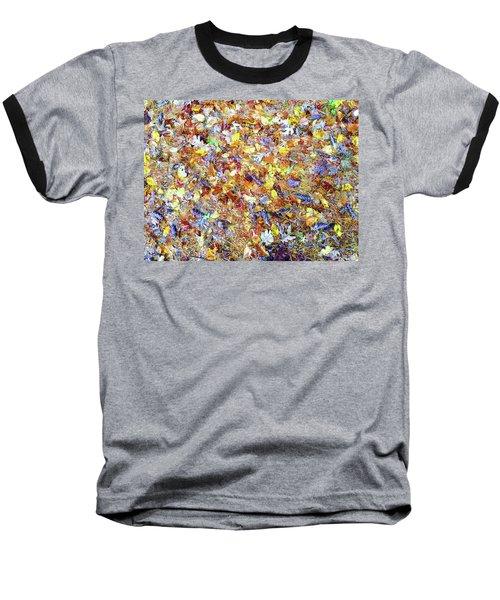 Natures Fall Falling Patterns Baseball T-Shirt