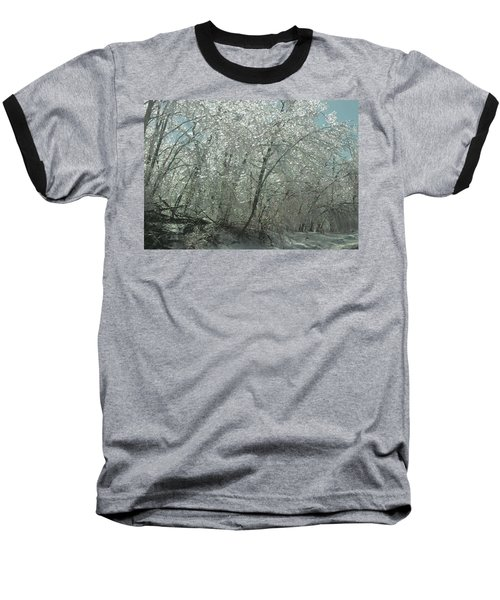 Baseball T-Shirt featuring the photograph Nature's Frosting by Ellen Levinson