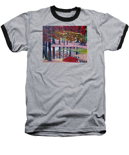 Baseball T-Shirt featuring the painting Natures Painting by Marilyn  McNish