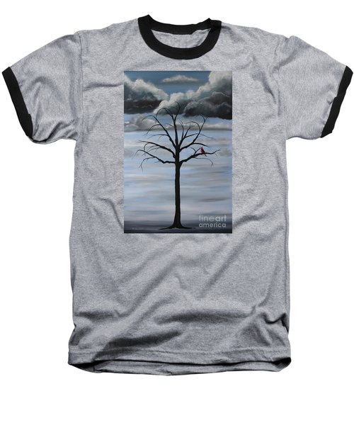 Baseball T-Shirt featuring the painting Nature's Power by Stacey Zimmerman